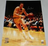 JERRY WEST SIGNED AUTOGRAPHED LOS ANGELES LAKERS 16x20 PHOTO JSA