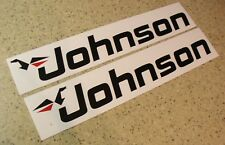 Johnson Outboard Motor Decals 2-PAK Die-Cut FREE SHIP + Free Fish Decal!