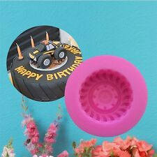 Silicone Mould Tire Sugarcraft Cake Decorating Fondant Mold 3D Car Wheels Molds