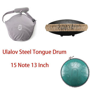 Ulalov Drum Hand-pan Percussion Drum 13 Inch with Travel Bag Book for Gift Women