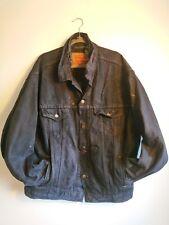 Vintage Levi's Blanket Lined Dark Blue Denim Trucker Jacket Size XL Made In USA