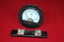 DC 0-50A Round Analog Ammeter Panel AMP Current Meter Dia. 90mm with shunt