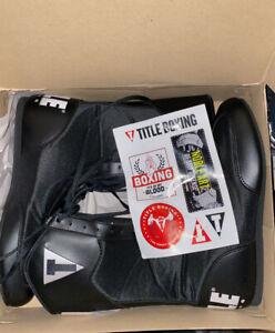 Title Boxing Shoes Speed-Flex Encore Mid-Length Boxing Shoes - Black Size 9 Men