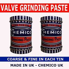2 x CHEMICO VALVE GRINDING PASTE FINE & COARSE GRADE IN A DOUBLE ENDED TIN 100g