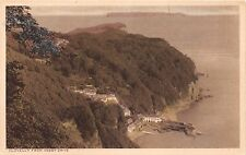 Clovelly Devon Uk Elevated View From Hobby Drive~Reilly Majestic Series Postcard