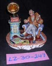 CAPODIMONTE Grandfather with Gramaphone Laurenz Sculpture COA Italy 247