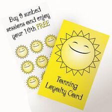 Camas Solares bronceado Salón Tarjetas de retención de lealtad del cliente Paquete de 25