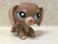 Littlest Pet Shop LPS #1751 Brown tan dachshund dog Preowned