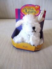 """Only Hearts Pets """"Puff The White Fluffy Dog"""" Only Hearts Club New In Box"""