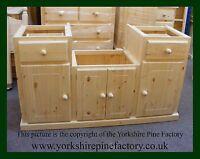 Handmade Traditional Complete Belfast Butler Sink Solid Pine Kitchen unit ref B2