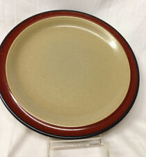 "INTERNATIONAL ROUND UP BROWN DINNER PLATE 10 3/4"" BEIGE WITH BROWN BAND"