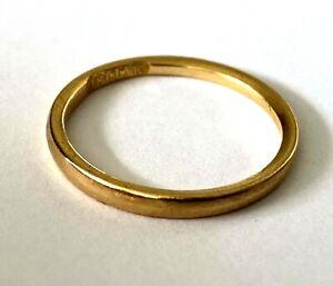 Antique Hayden W Wheeler & Co 18K Yellow Gold Ladies Ring Wedding Band Size 6.25