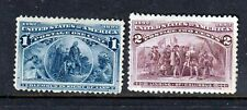 #230-231 1c-2c Columbian Issue (Mint Hinged) cv$28.00