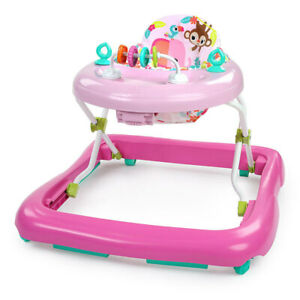 Bright Starts Floral Friends Foldable Walker Play w/Toy Baby/Toddler Pink 6m+