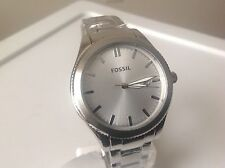 Fossil Ladies Silver Stailess Steel Three Hand Dial Watch BQ3183