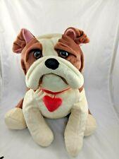 "HugFun Bulldog Dog Plush Sits 15"" Hug Fun Stuffed Animal"