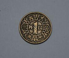 1 PTA Peseta Spain Spanien Coin ESPANA 1944 Münze