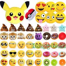 Emoji/Poo/Monkey/Donut Plush Throw Cushion Pillow Sofa Bed Stuffed  Xmas Toys