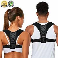 Back Posture Support Corrector Adjustable Shoulder Brace Therapy Men Women