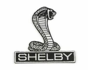 """Patch - Shelby Cobra Die Cut 3"""" * GT350 GT500 Cobra Mustang * Free USA Shipping!"""