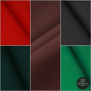 """Poly Cotton Drill, 65% Poly, 35% Cotton, 6 Colors, Approx 60"""" Wide"""
