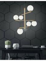 Lampadario a sospensione design moderno con vetro soffiato oro