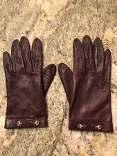 Authentic Gucci Burgunder Leather Gloves
