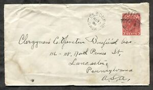 ELBOURNE Sask 1936 Split Ring on Cover to USA           (inv:p727)