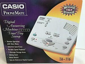 Casio PhoneMate TA-116 Digital Answering Machine 1997 Brand New In Box SEALED