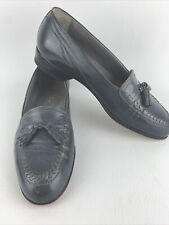Men's Christian Dior Gray/Grey CalfSkin Flat Tassel Loafer Slip-on Shoes Size 8D