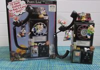 """ADORABLE Enesco Musical Society Party Line Mice Playing on Telephone 10"""" X 8"""""""