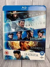 47 Ronin/Oblivion/Battleship/Immortals/Gladiator Blu-ray (2014) Keanu Reeves,