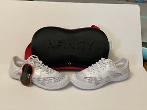 Nfinity Vengeance Cheer Shoes - Size 8.5 - White - New w/Tags & Carrying Case