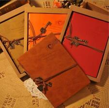 Retro Classic Notebook Vintage PU Leather Bound Notepad Note Journal Diary USA