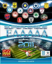 PANINI GREEK FOOTBALL 2010 2011 SUPERLEAGUE COMPLETE STICKERS SET ALBUM