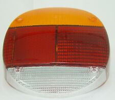 TAIL LIGHT LENS LEFT REAR RED/AMBER FITS VOLKSWAGEN TYPE1 BUG 1974-1979