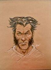Wolverine Logan X-men Original Art Sketch By Marc Wolfe 9x12
