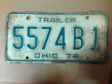 1974 OHIO Trailer License Plate - 5574B1 -