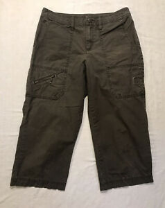 Eddie Bauer Cropped Hiking Pants Capri Mercer 4 Cargo Cotton Spandex Travel
