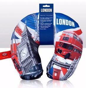 London Big Ben micro beaded Neck travel comfortable pillow Bus tower bridge gift
