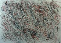 Sergio Sermidi,Große Papierarbeit,Tempera,signiert, datiert,Struktualist, 92, II