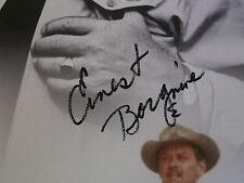 Ernest Borgnine hand signed canvas UACC AFTAL