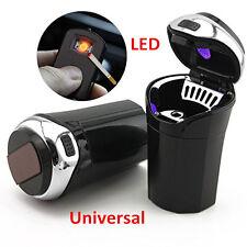 Blue LED Portable Car Ashtray Auto Cigar Cigarette Lighter Ashtray Smokeless+USB
