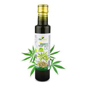 Certified Organic Cold Pressed Hemp Seed Oil 250ml Biopurus