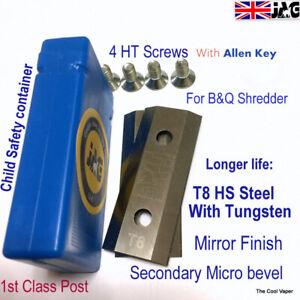T8 Steel B&Q Mac Allister Garden SHREDDER Blades for FPIS2500 MIS2500 TRY2500SA
