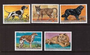 Central African Republic 1986 Dogs /Cats set MNH mint stamps