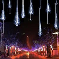 LED Lights Meteor Shower Rain 8 Tube Tree Light Christmas Xmas Decorations Gift