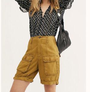 NWT Free People Johannesburg Utility Women's Cargo Shorts, Size 6