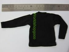 """1/6 Scale Tee Hot Black Long Sleeves T-Shirt For 12"""" Action Figure Toys"""