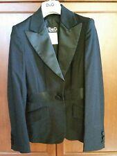 Auth New D&G DOLCE & GABBANA Ladies Formal Black wool Tuxedo Blazer Jacket 24/38